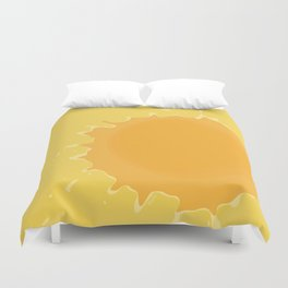 Splat on Yellow - by Friztin Duvet Cover