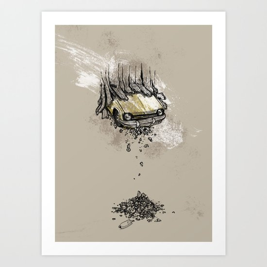 It's here daddy! Art Print