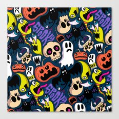 Spooky Pattern Canvas Print