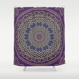Mandala - purple and gold Shower Curtain