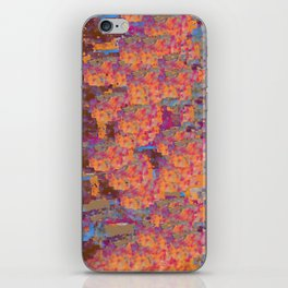 Gold, Blue,and Purple Blanket Design iPhone Skin