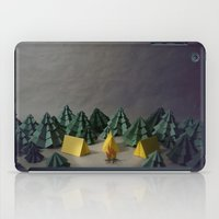 camp iPad Cases featuring camp by Chelsea Gass
