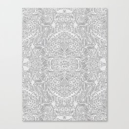 Frost & Ash - an Art Nouveau Inspired Pattern Canvas Print