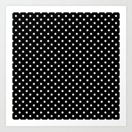 Black & White Polka Dot Pattern Art Print