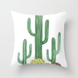 Classic Desert Cactus Throw Pillow