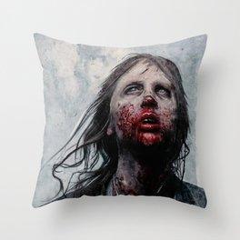 The Lone Wandering Walker - The Walking Dead Throw Pillow