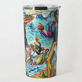 """African American Classical Masterpiece """"The Repatriation of the Freed Captives"""" by Hale Woodruff Travel Mug"""