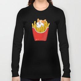 French Corgi Fries Long Sleeve T-shirt