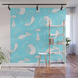 Le Chat - Blue Wall Mural