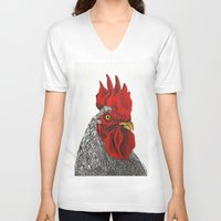 cock V-neck T-shirts featuring cock by bmkoc