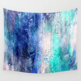 Winter Abstract Acrylic Textured Painting Wall Tapestry