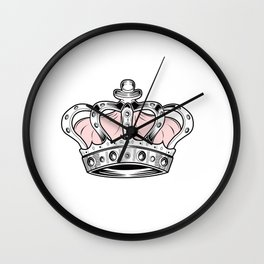 Crown - Pink Wall Clock