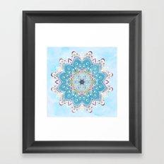 MAGIC FLOWER MANDALA Framed Art Print