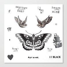 Tattoo à la Harry Canvas Print