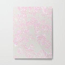 Soft succulent bed - pastels, pink and salt Metal Print
