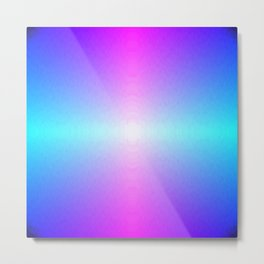 Four color blue, purple, pink, white ombre Metal Print