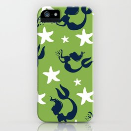 Mermaids and Starfish iPhone Case