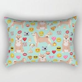 shiba inu emoji dog breed pattern Rectangular Pillow