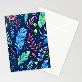 Boho Chic Blue by Mimi Bondi Stationery Cards