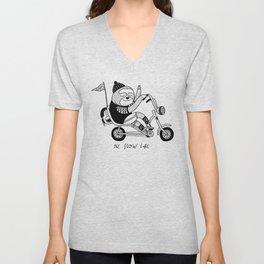 Sloth riding a bike Unisex V-Neck