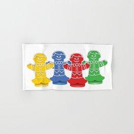 Candy Board Game Figures Hand & Bath Towel