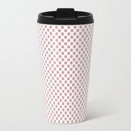 Bridal Rose Polka Dots Travel Mug