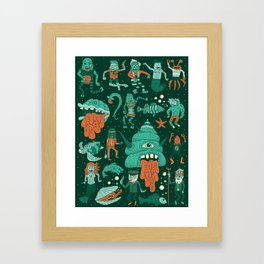 Wow! Creatures!  Framed Art Print
