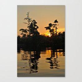 Sunset in Borneo Canvas Print