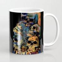skulls Mugs featuring Skulls By Annie Zeno by Annie Zeno