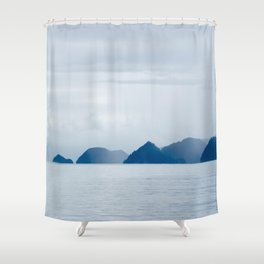 Mountains in the Mist Shower Curtain
