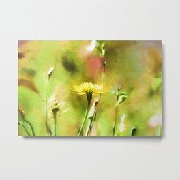 Painterly Flowers Metal Print