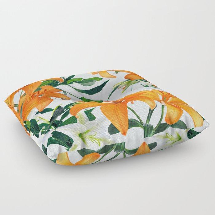 Glorious Lilies Floor Pillow