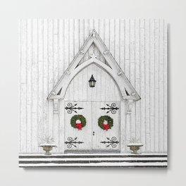 Christmas Door No 2 Metal Print