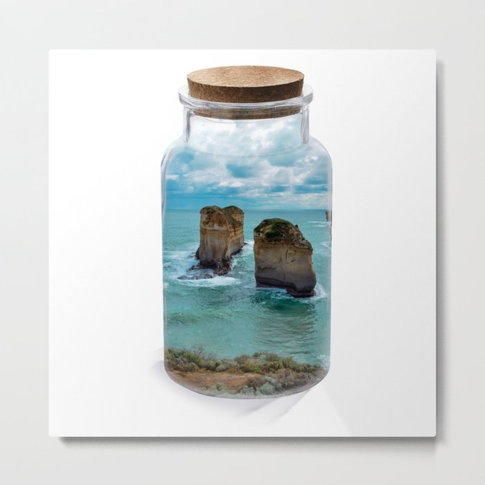 Bottled apposle Metal Print