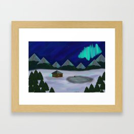 Someplace snowy, like Norway or Whatever Framed Art Print
