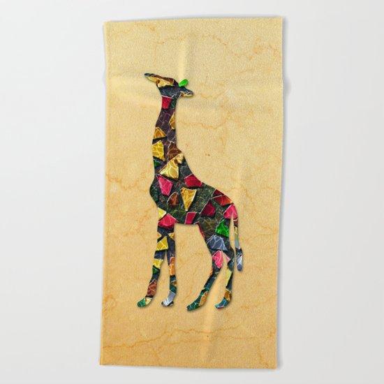 Animal Mosaic - The Giraffe Beach Towel