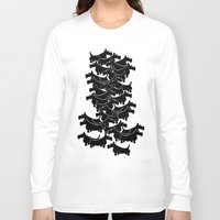 terrier Long Sleeve T-shirts featuring Scottish Terrier by mailboxdisco