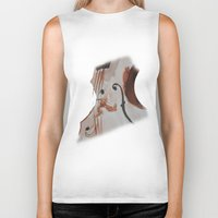 violin Biker Tanks featuring violin by Anja Kidrič AdAk