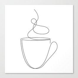 coffee or tea cup - line art Canvas Print
