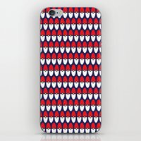pokeball iPhone & iPod Skins featuring Pokeball Pattern by Jennifer Agu
