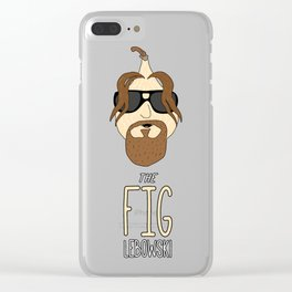 The Fig Lebowski Clear iPhone Case