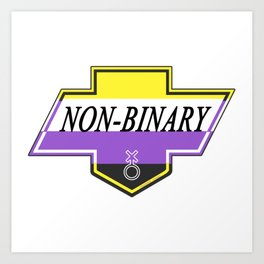 Identity Stamp: Non Binary Art Print