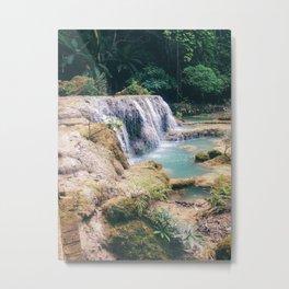 Waterfall Oasis Metal Print