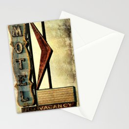 Vintage Arrow Motel Sign Stationery Cards