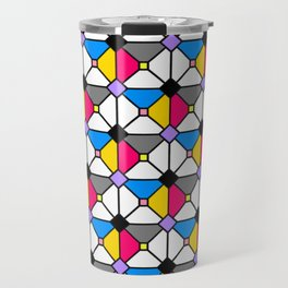Playing Origami Flower Geometry - Color Floral Play #1 Colorful Travel Mug
