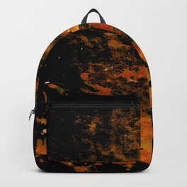 orange and electric texture Backpack