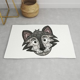 Howl You Doin'? - Cute Wolf - Puppy - 57 Montgomery Ave Rug