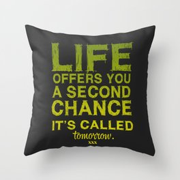 Second chance. Throw Pillow