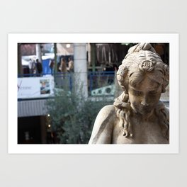 Melancholy at Paris Art Print