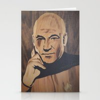 picard Stationery Cards featuring Jean-Luc Picard (Patrick Stewart)  by Andulino